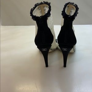 CHANEL Shoes - Authentic Chanel stunning runway rare fab booties